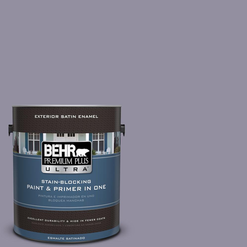 BEHR Premium Plus Ultra 1-gal. #N560-4 Evening in Paris Satin Enamel Exterior Paint