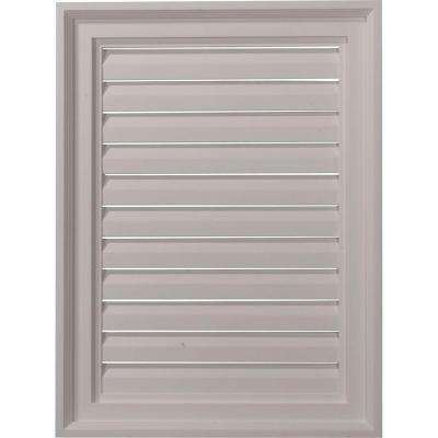 2 in. x 18 in. x 24 in. Decorative Vertical Gable Louver Vent