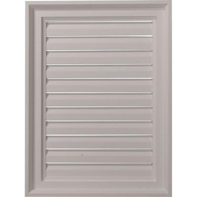18 in. x 24 in. Rectangular Primed Polyurethane Paintable Gable Louver Vent Non-Functional