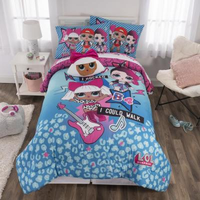 Born Rockers 6-Piece Blue Full Bed in a Bag Set