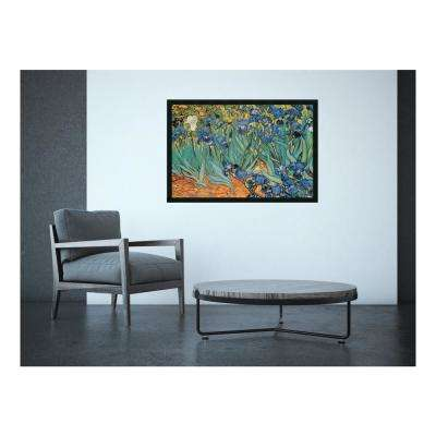 38 in. x 26 in. Outer Size Garden Of Irises by Vincent Van Gogh Framed Art Print