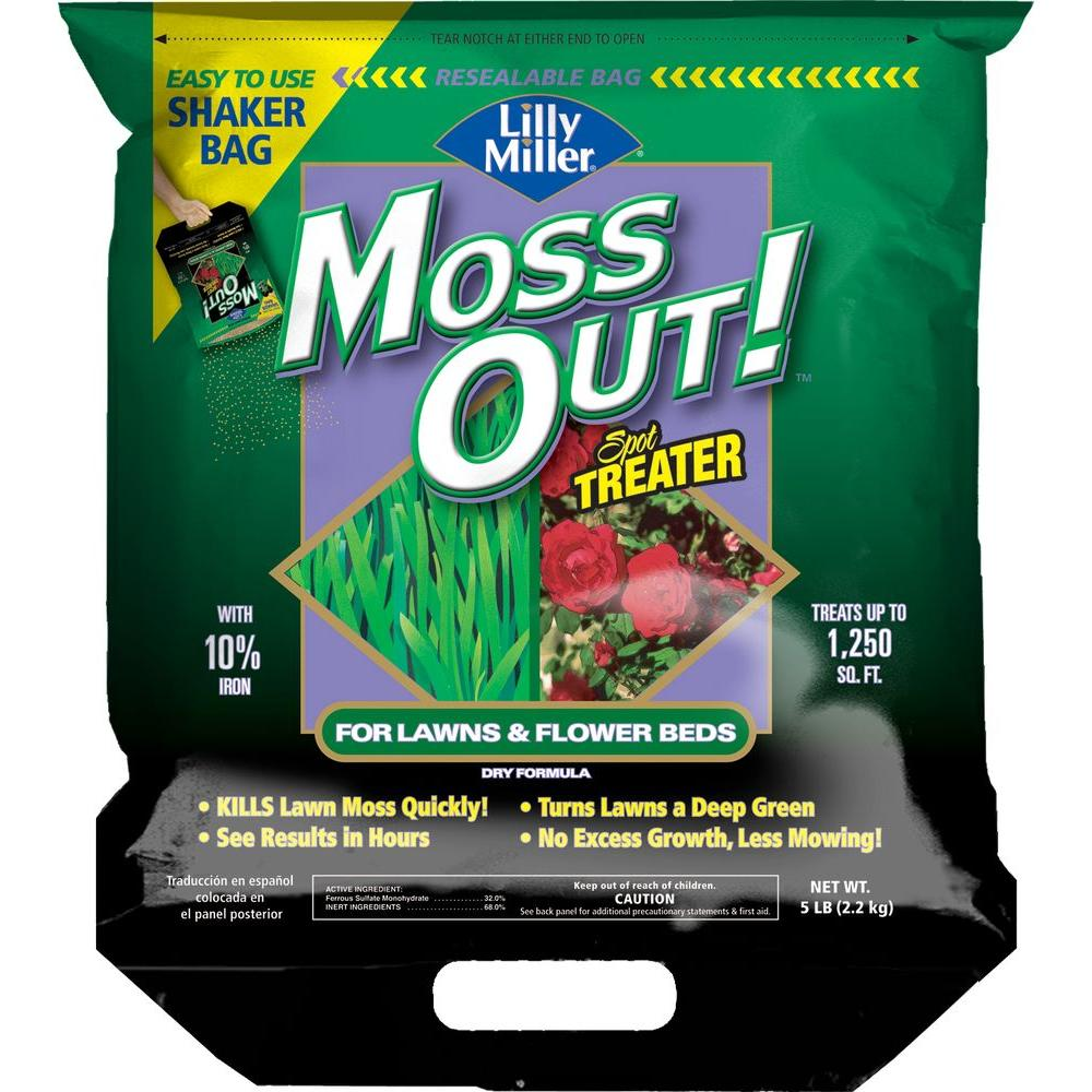 Lilly Miller 5 lb. Moss Out! Ready-to-Use Lawn Granules Shaker Bag