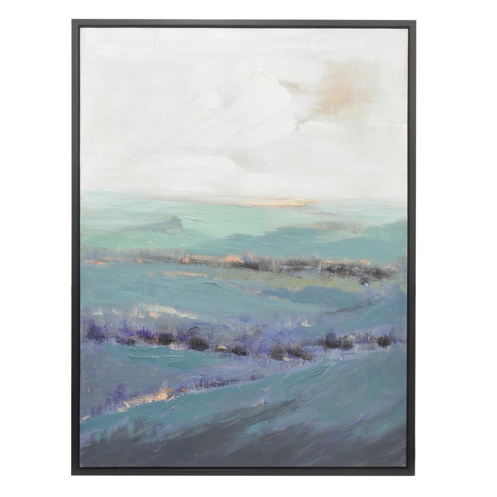 THREE HANDS Painting with Frame - Oil on Canvas-50422 - The Home Depot