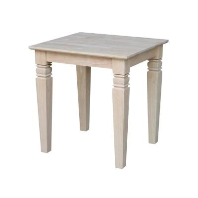Java Unfinished End Table