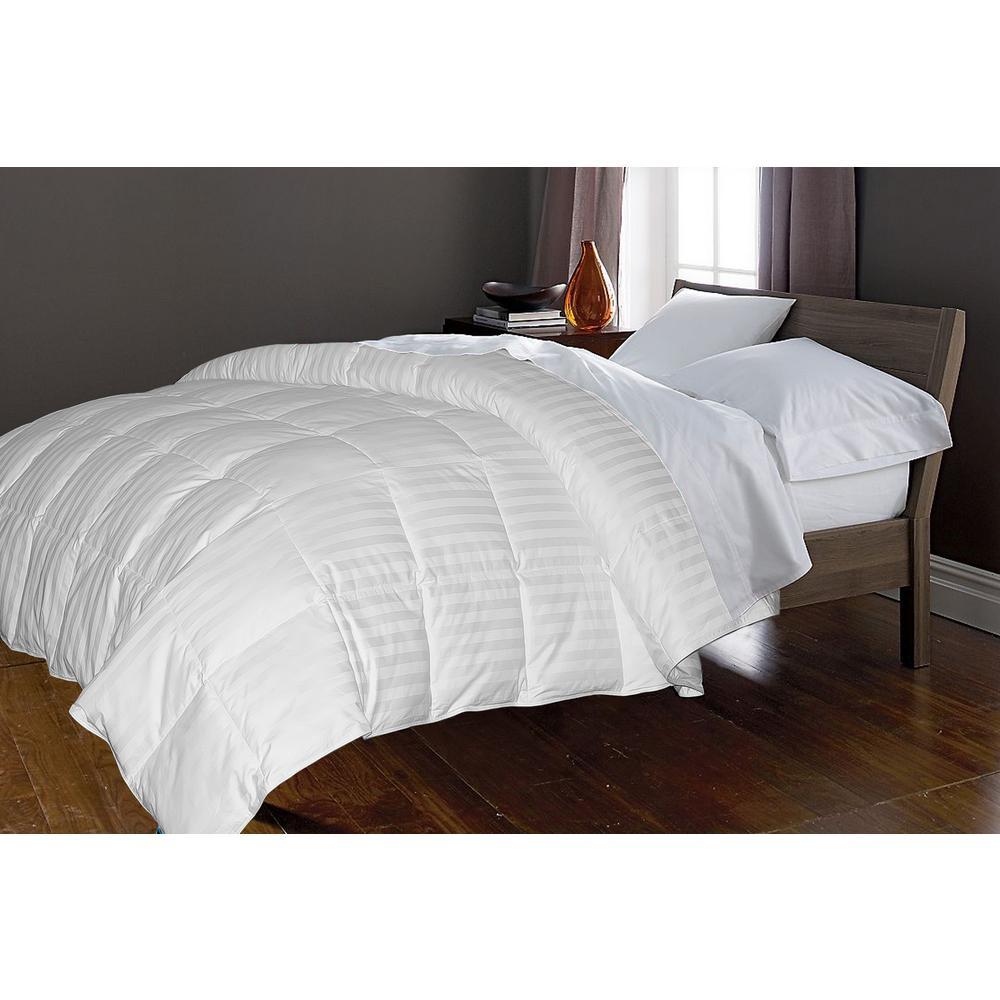 white goose down comforter king Blue Ridge White Goose Down and Feather 50 and 50 King Comforter  white goose down comforter king