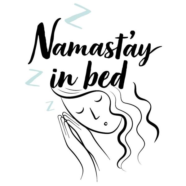 Namastay Black Bed Wall Quote Decal