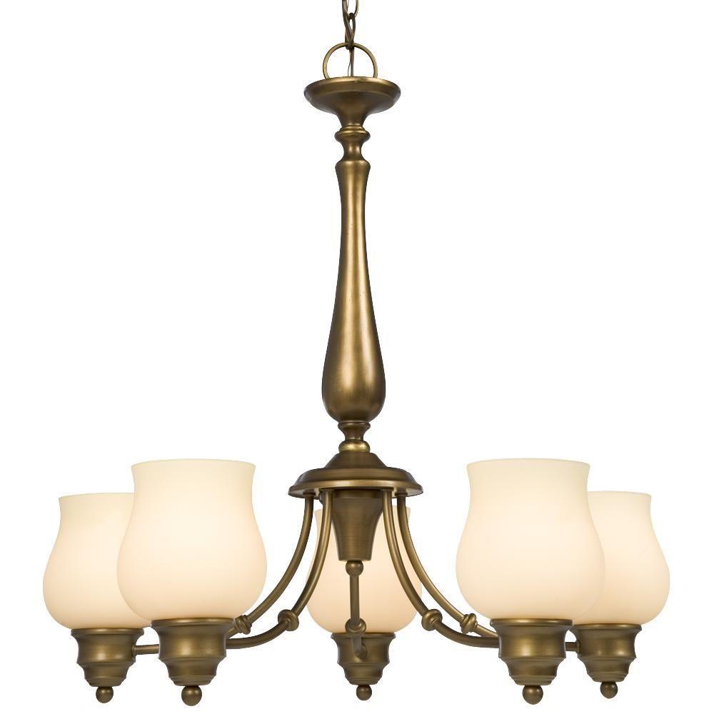 filament design negron 5 light parisian antique brass incandescent