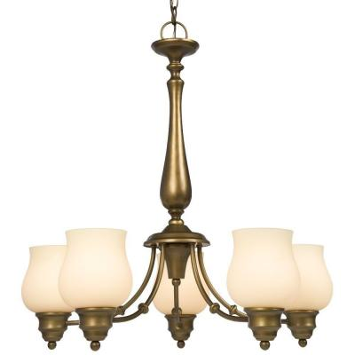 Negron 5-Light Parisian Antique Brass Incandescent Chandelier