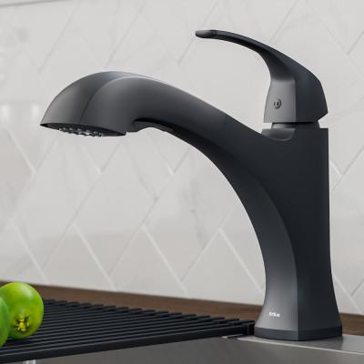 Oren Single-Handle Pull-Out Sprayer Kitchen Faucet in Matte Black