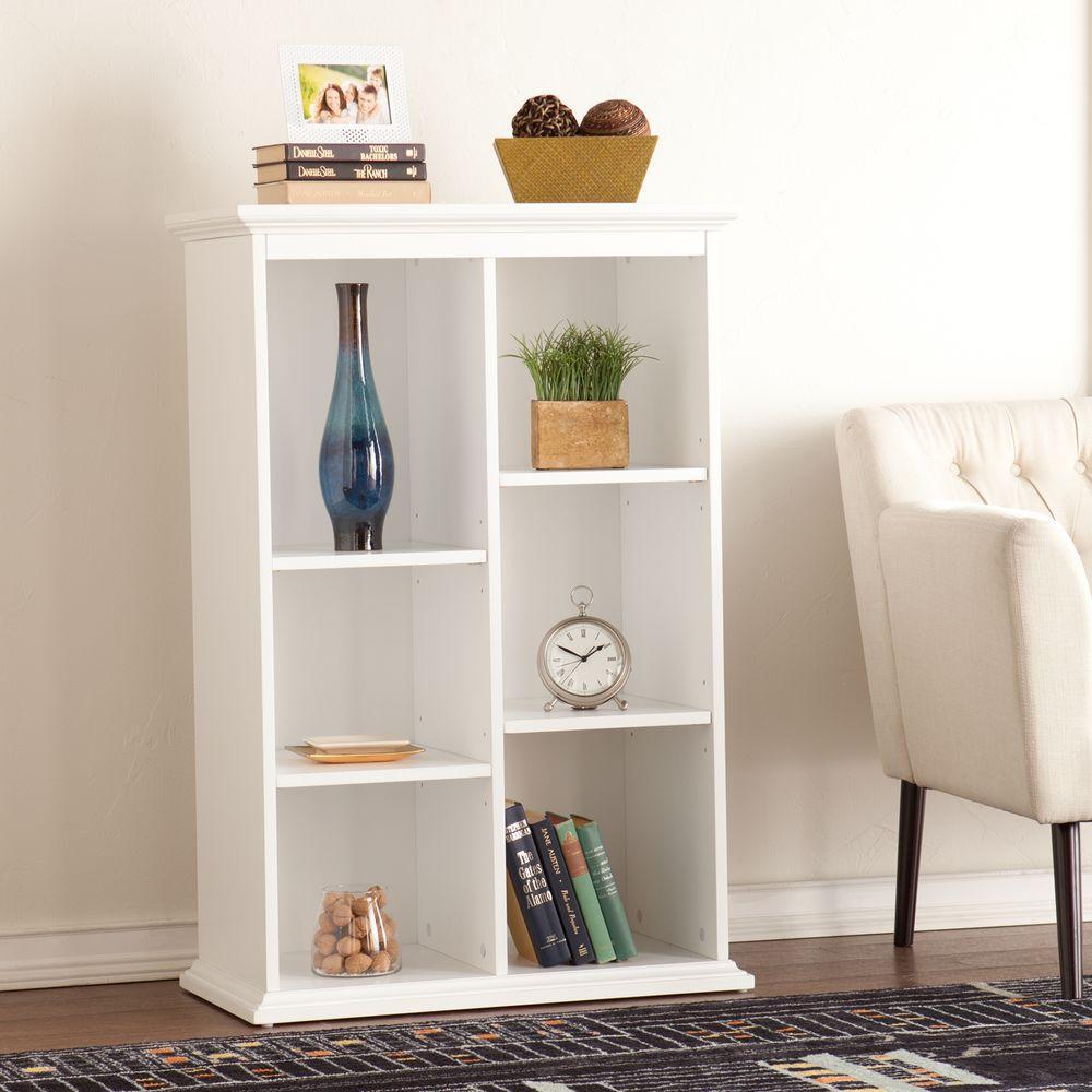 Barnett Crisp White Open Bookcase