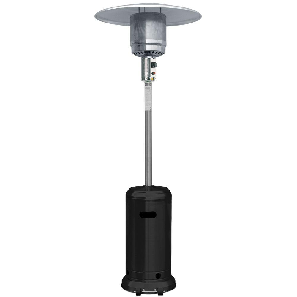 Garden Radiance 41,000 BTU Stainless Steel and Black Full Size Propane Gas Patio Heater