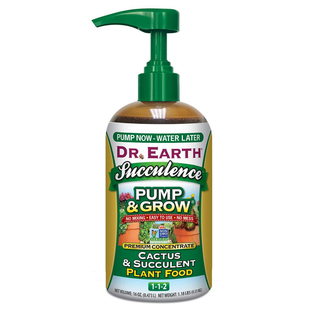 DR. EARTH 16 oz. Organic and Natural Pump and Grow Succulence and Cactus Food