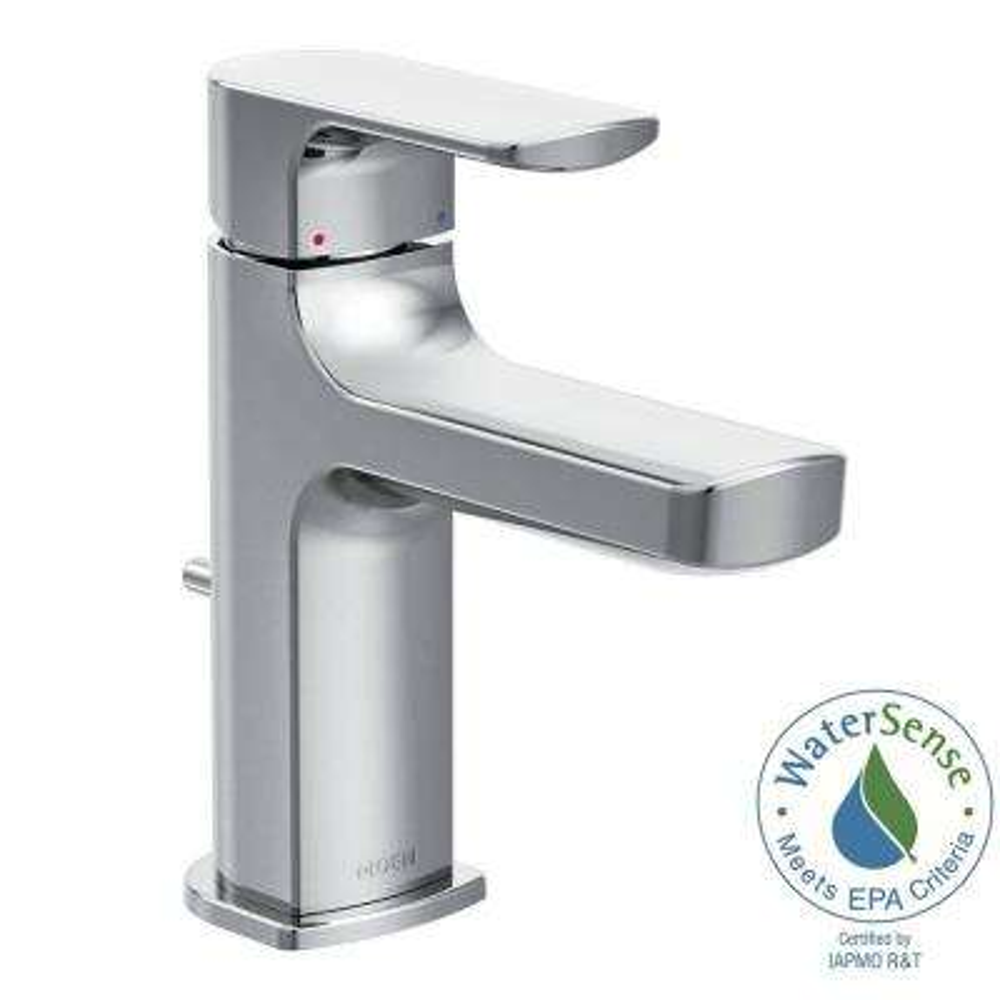 Rizon Single Hole 1 Handle Bathroom Faucet In Chrome · MOEN Rizon ...