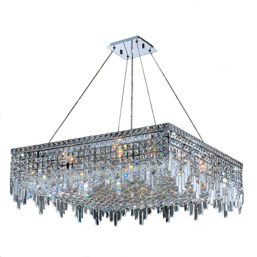 Cascade Collection 12-Light Polished Chrome Crystal Chandelier