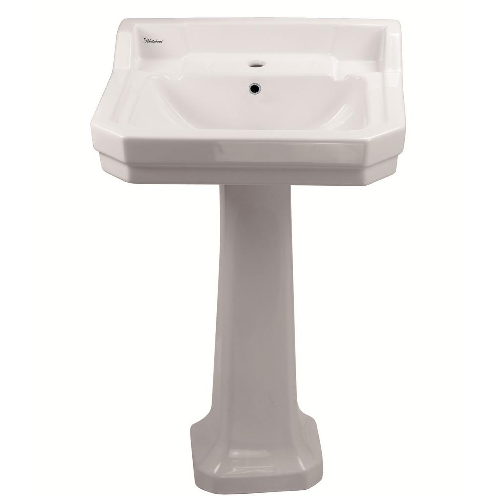 Whitehaus Collection Isabella Collection 22 in. Lavatory Pedestal ...