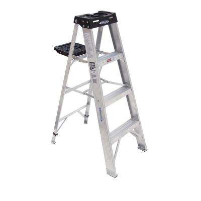 4 ft. Aluminum Step Ladder with 300 lb. Load Capacity Type IA