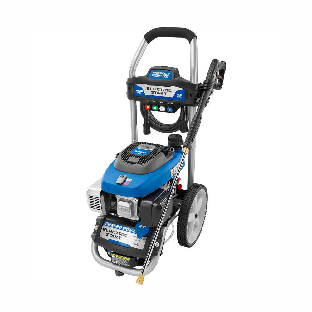 PowerStroke 3200 PSI 2 5 GPM Electric Start Gas Pressure Washer