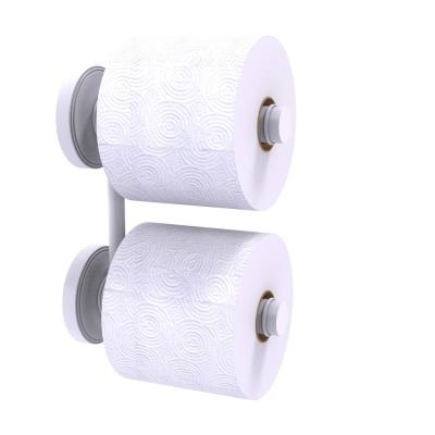 Prestige Regal Collection 2 Roll Reserve Roll Toilet Paper Holder in Matte White