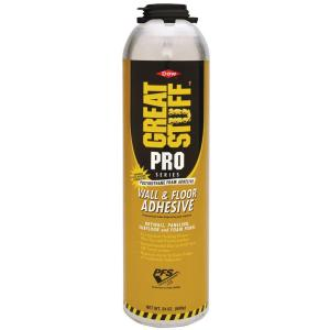 GREAT STUFF PRO 26 5 oz  Wall and Floor Adhesive-343087 - The Home Depot