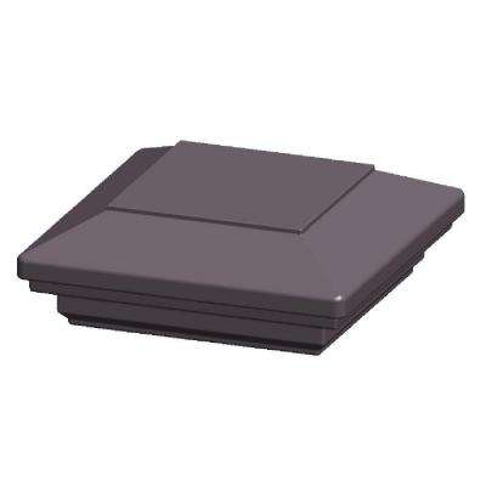 3.5 in. x 3.5 in. Aluminum Charcoal Flat Top Post Cap
