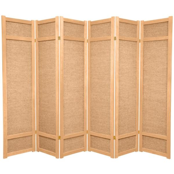 6 ft. Natural 6-Panel Room Divider