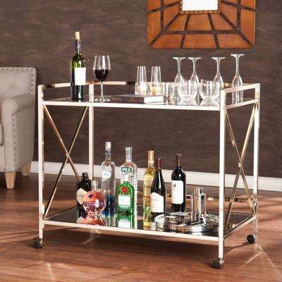 Olivia Bar Cart in Metallic Gold
