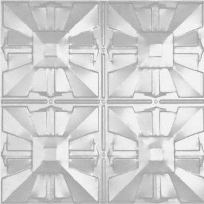 2 ft. x 2 ft. Lay-in Suspended Grid Tin Ceiling Tile in Powder-Coated White (24 sq. ft. / case)
