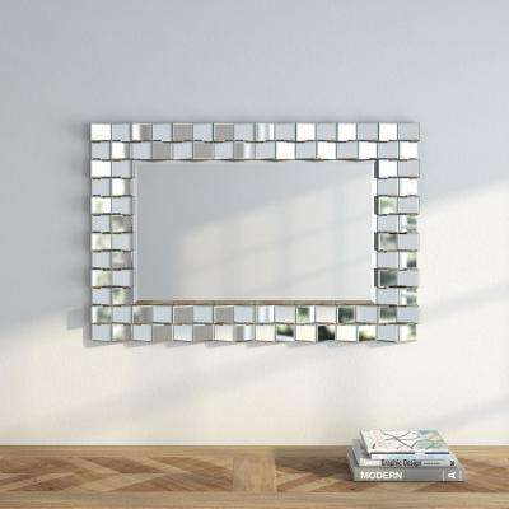 Faith 35.5 in. H x 23.75 in. W Decorative Mirror