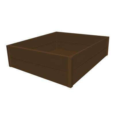 36 in. x 48 in. x 12 in. Brown Recycled Plastic Commercial Grade Raised Garden Bed