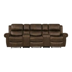 Astonishing Prolounger Distressed Saddle Brown Faux Leather 3 Seat Gmtry Best Dining Table And Chair Ideas Images Gmtryco