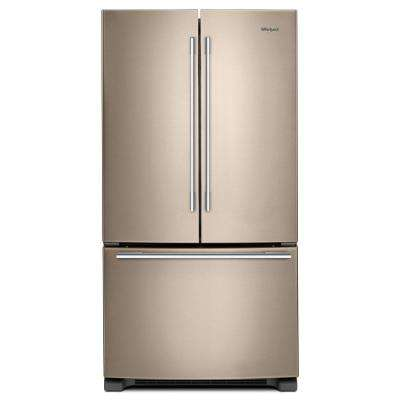 33 in. 22 cu. ft. French Door Refrigerator in Sunset Bronze