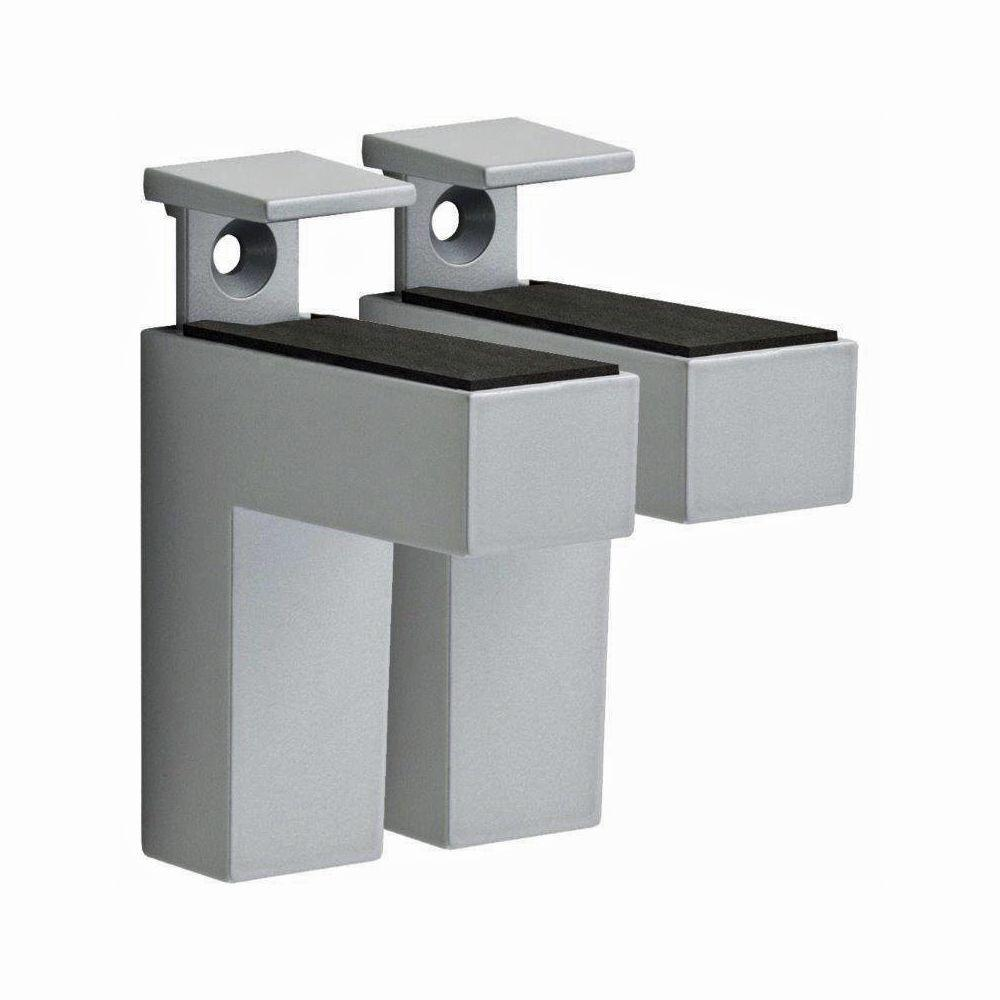 Dolle ELIOT 3/16 in. - 1-1/2 in. Adjustable Shelf Bracket in Stainless Steel