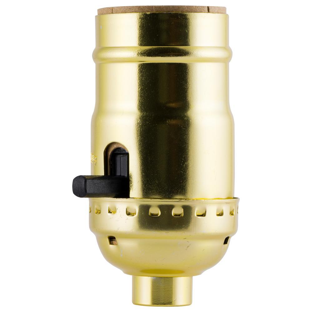 Ge Push On Off Brass Lamp Socket Housing Aluminum 52205 The Home Depot