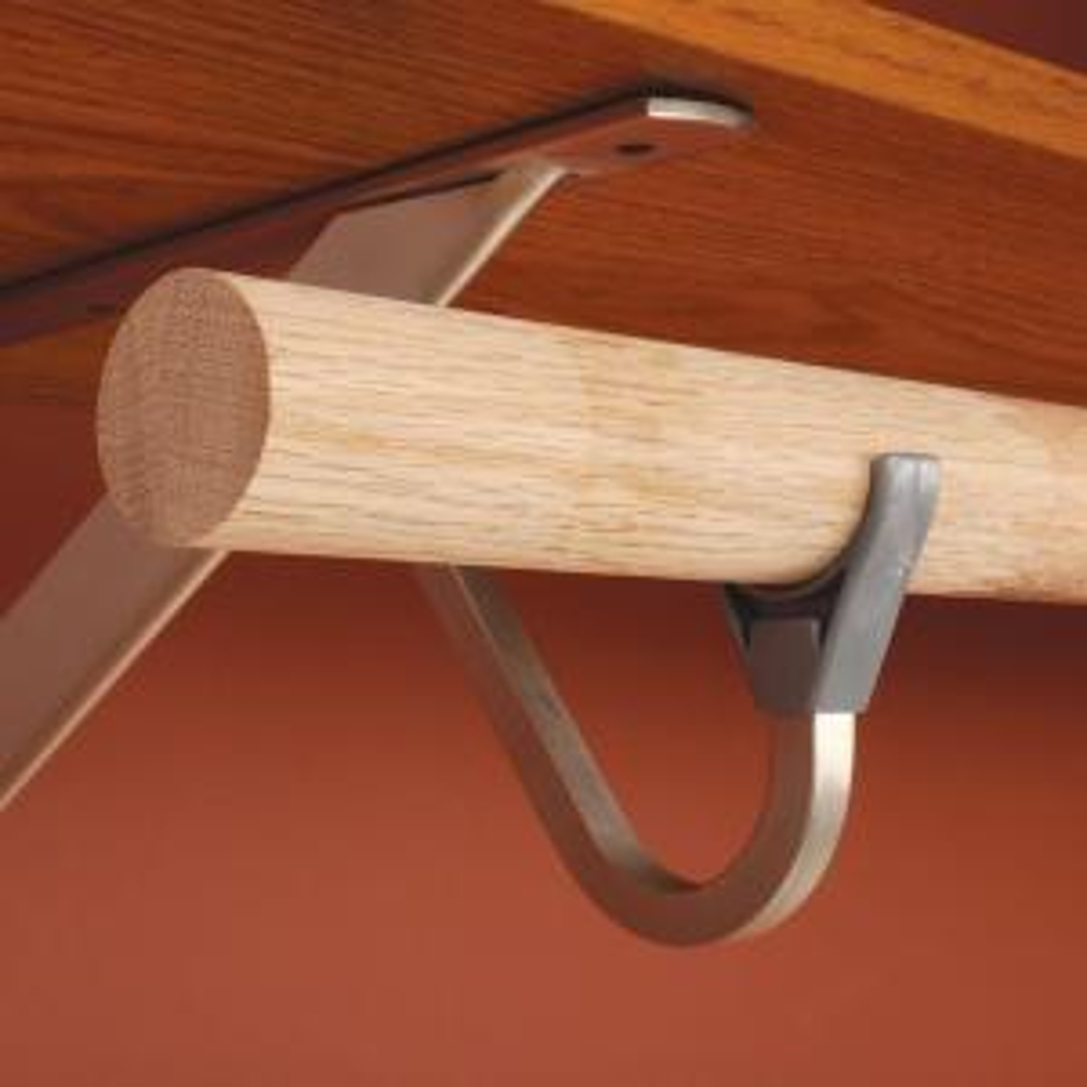 72 in.  Heavy Duty Hard Wood Closet Rod