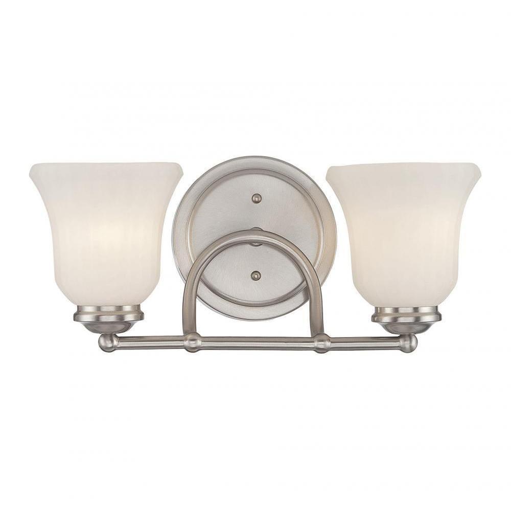 Lismer 2-Light Satin Nickel Bath Vanity Light