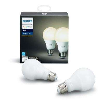 White A19 LED 60W Equivalent Dimmable Smart Wireless Light Bulb (2 Pack)