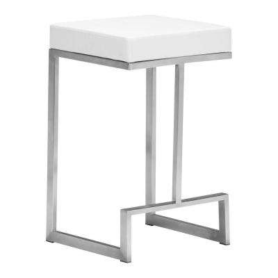 Darwen 26 in. White Counter Stool