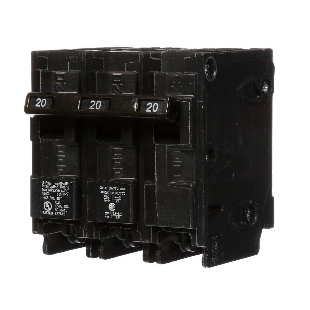 Murray 20 Amp Three-Pole Type MP Circuit Breaker
