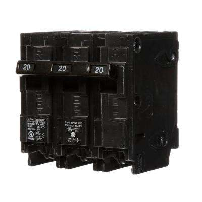 20 Amp Three-Pole Type MP Circuit Breaker