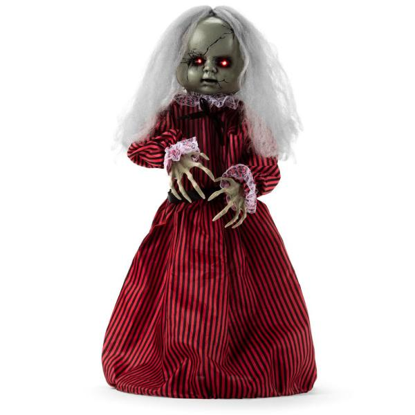 Haunted Holly 2 ft. Roaming Talking LED Animatronic Doll Halloween Prop