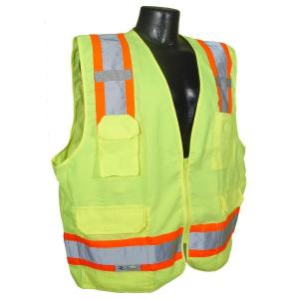 Radians CL 2 Two-Tone Surveyor green Twill Medium Safety Vest by Radians