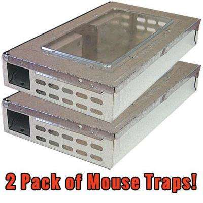 Humane Multi-Catch Professional Repeater Mouse / Mice Trap Rodent Control (2-Pack)