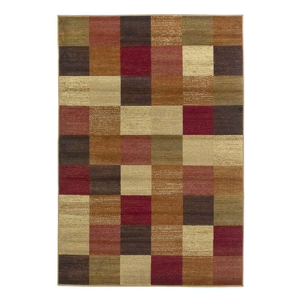 kas rugs all in a square beige 5 ft x 8 ft area rug lif542653x77 the home depot. Black Bedroom Furniture Sets. Home Design Ideas