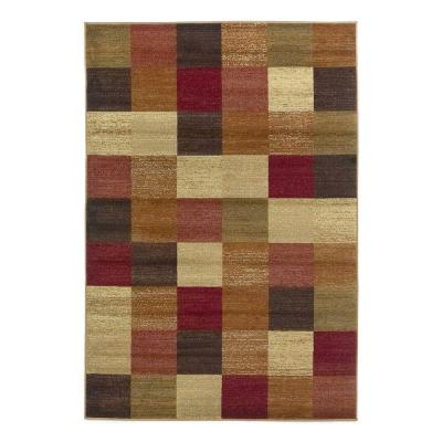 All in a Square Beige 5 ft. x 8 ft. Area Rug