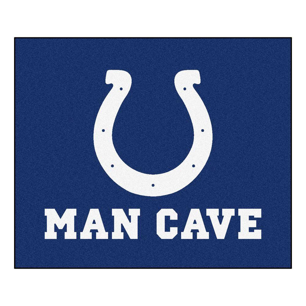 Fanmats Indianapolis Colts Blue Man Cave 5 Ft X 6 Ft