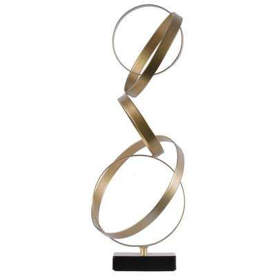 17.75 in. H Sculpture Decorative Sculpture in Gold Metallic