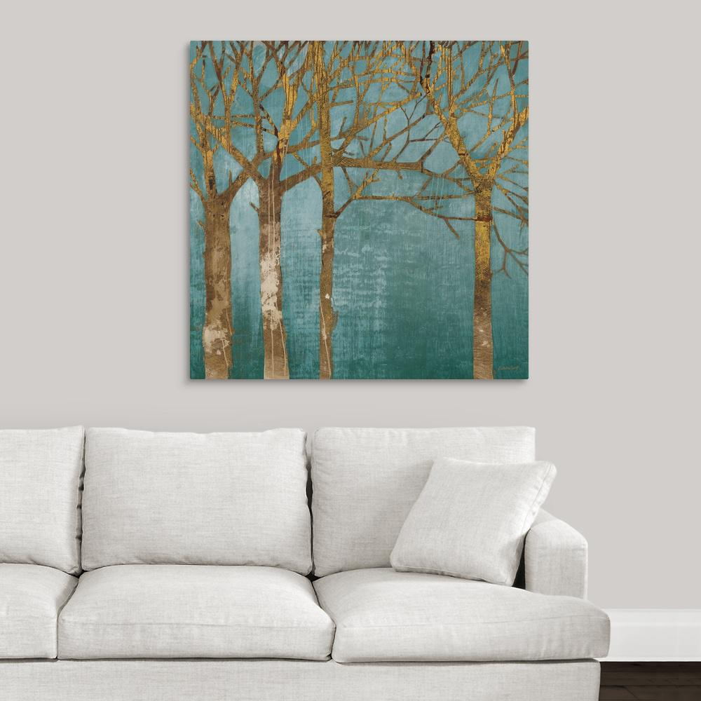 ''Golden Day Turquoise'' by Kathrine Lovell Canvas Wall Art