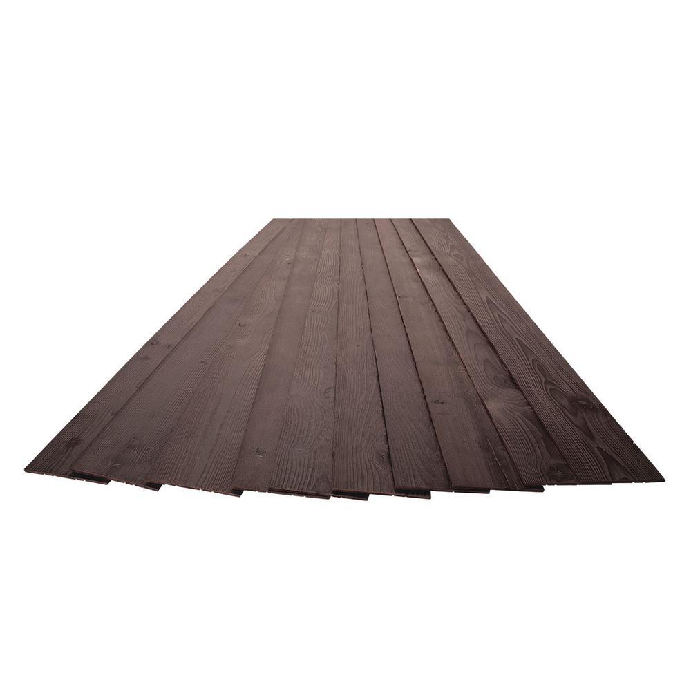 3/16 in. x 5-1/8 in. x 46-1/2 in. Espresso Brown Rustic Pine Wood Plank Self-Adhesive (10-Pack)