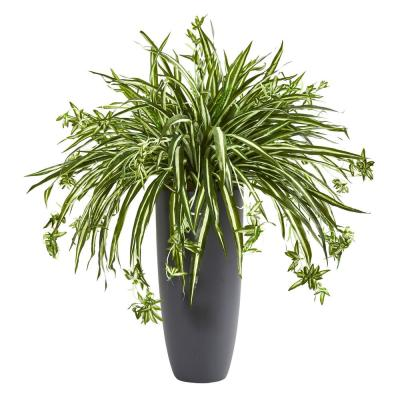 33 in. Indoor Spider Artificial Plant in Cylinder Planter