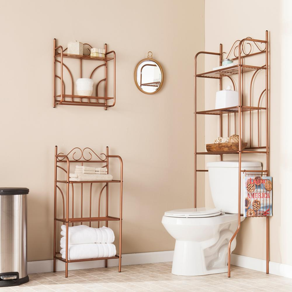 southern enterprises 23 in. bronze scroll 3-piece bath set